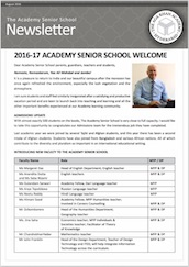 AKA Hyderabad Senior School newsletter August 2016
