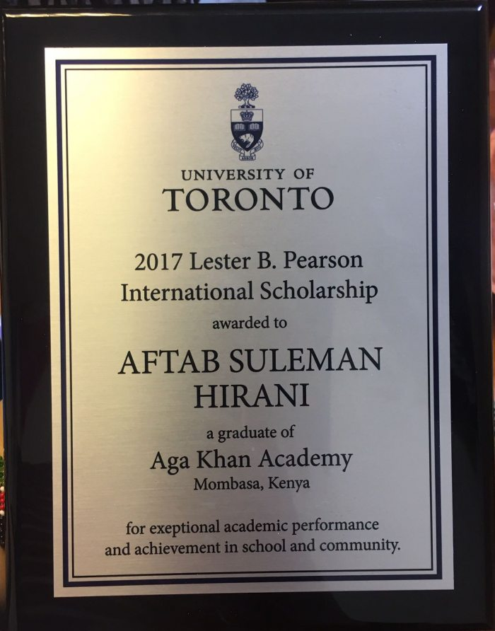 Recognition from the University of Toronto | Aga Khan Academies