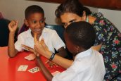 Learning math with cards
