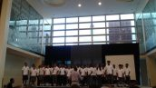 """Year 5 students perform """"Man in the Mirror"""" at the opening ceremony"""