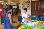 Ayaan Allahrakhia explains his project about care for the elderly
