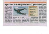 Aga Khan Academy Mombasa wins overall title at Coast Open junior swimming gala