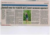 Alyssa Jamal, year 8 student, featured for her golf achievements.