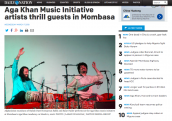 Aga Khan Music Initiative Artists Thrill Guests in Mombasa
