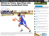 Shimo la Tewa, Aga Khan Win Mombasa Basketball Titles