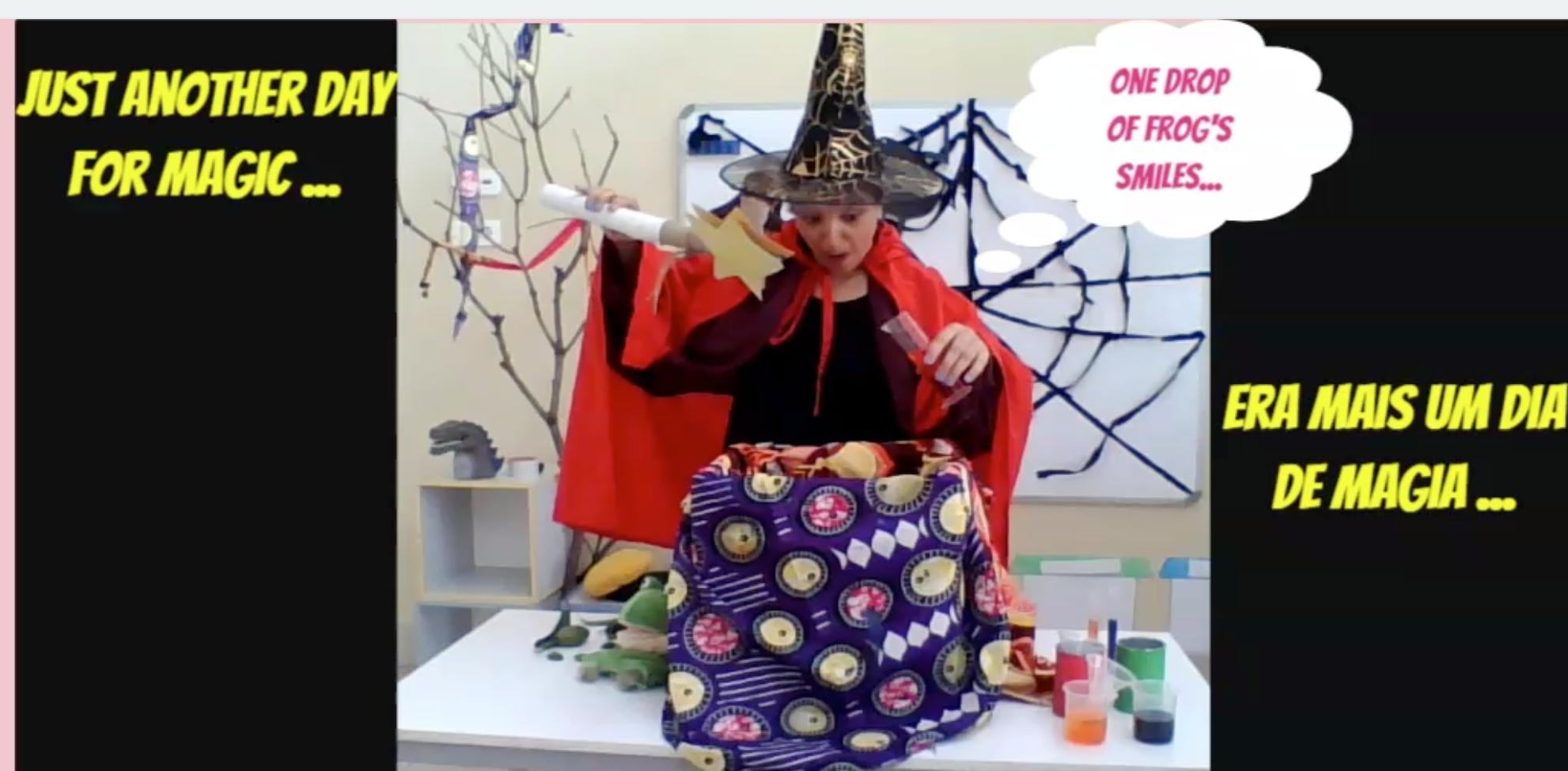 Zeezee the Wizard creating potions