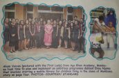 First Lady poses with AKAM Voices